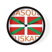 Basque_Orange Wall Clock