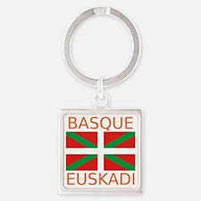Basque_Orange Square Keychain