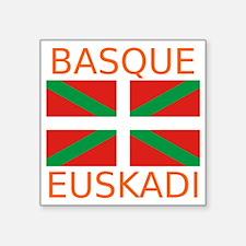 "Basque_Orange Square Sticker 3"" x 3"""