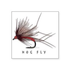 "Hog Fly Square Sticker 3"" x 3"""