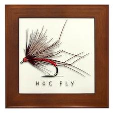 Hog Fly Framed Tile
