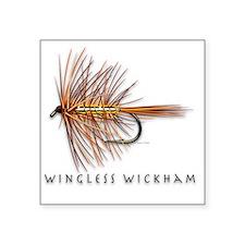 "Wingless Wickham Square Sticker 3"" x 3"""