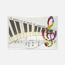 La musica es mi medio de expresio Rectangle Magnet
