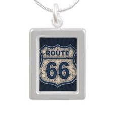 rt66-rays-BUT Silver Portrait Necklace
