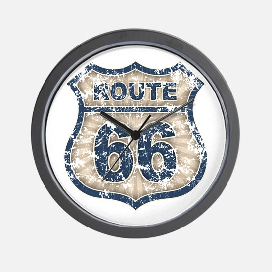rt66-rays-T Wall Clock