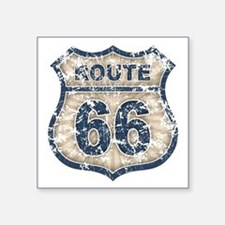 "rt66-rays-T Square Sticker 3"" x 3"""
