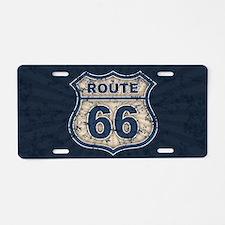 rt66-rays-OV Aluminum License Plate