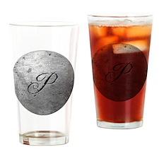 MetalSilvPneckTR Drinking Glass
