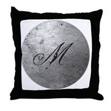 MetalSilvMneckTR Throw Pillow