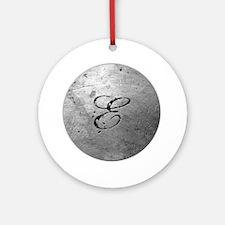 MetalSilvEneckTR Round Ornament