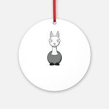 llama2 Round Ornament