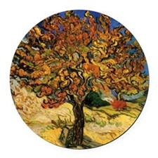 van gogh the mulberry tree Round Car Magnet