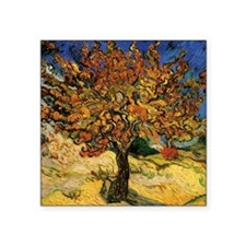 "van gogh the mulberry tree Square Sticker 3"" x 3"""