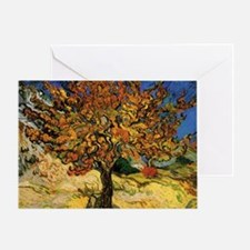 van gogh the mulberry tree Greeting Card