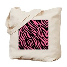 zebrapatterenff6699black Tote Bag