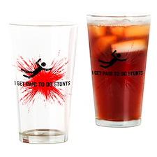 stunts paids black red Drinking Glass
