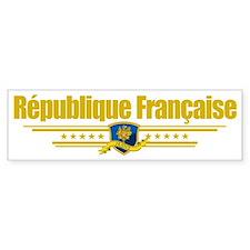 France (Flag 10) pocket Bumper Sticker