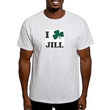 I Shamrock JILL Ash Grey T-Shirt