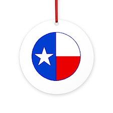 TEXAS FLAG CIRCLE Round Ornament