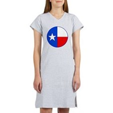 TEXAS FLAG CIRCLE Women's Nightshirt