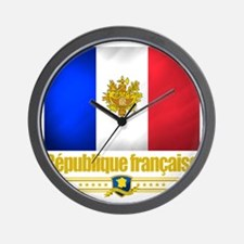 French Flag-Emblem (Flag 10) Wall Clock
