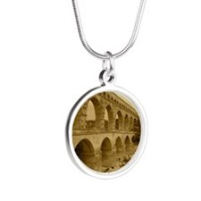 france7 Silver Round Necklace