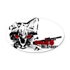 pewton_weaponry Oval Car Magnet