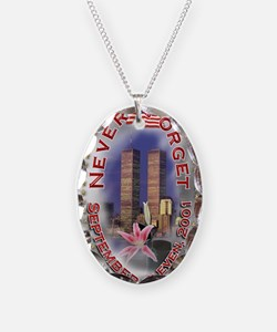 SEPTEMBER 11 001 Necklace Oval Charm