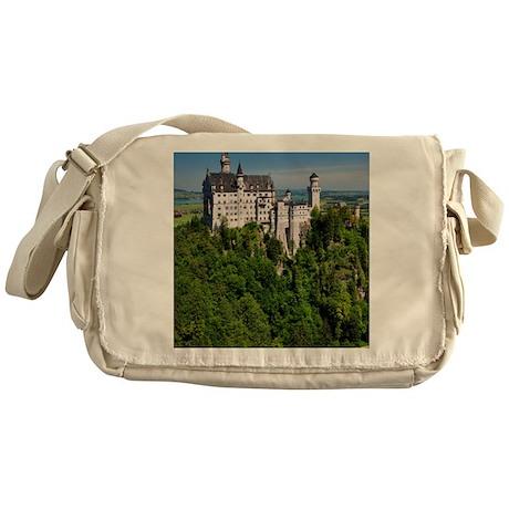 Neuschwanstein Castle Vertical Messenger Bag