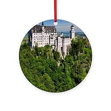 Neuschwanstein Castle Vertical Round Ornament