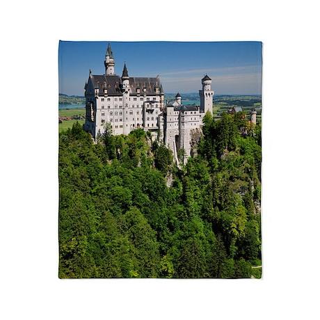Neuschwanstein Castle Vertical Throw Blanket