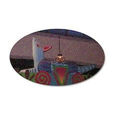 Armadillo Overhead Pontillis 35x21 Oval Wall Decal