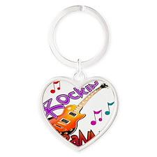 ROCKIN GRANNY Heart Keychain