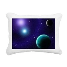 Blue Starscape Rectangular Canvas Pillow