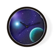 Blue Starscape Wall Clock
