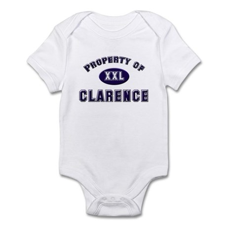 Property of clarence Infant Bodysuit