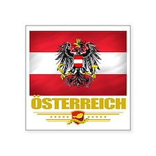 "Austria (Flag 10) Square Sticker 3"" x 3"""