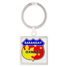 brgy-oxn Square Keychain
