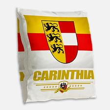 Carinthia (Flag 10) Burlap Throw Pillow