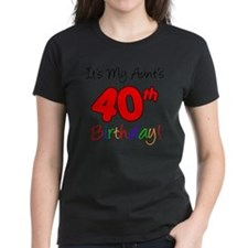 Aunts 40th Birthday Tee
