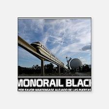 """monorail black poster copy Square Sticker 3"""" x 3"""""""