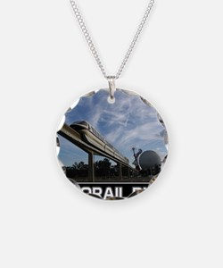 monorail black poster copy Necklace