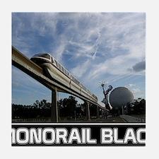 monorail black poster copy Tile Coaster