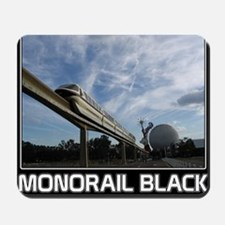 monorail black poster copy Mousepad