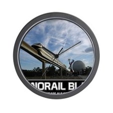 monorail black poster copy Wall Clock