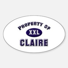 Property of claire Oval Decal