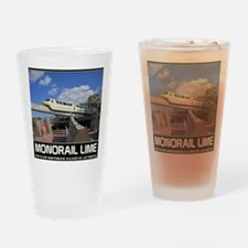 monorail LIME poster copy Drinking Glass