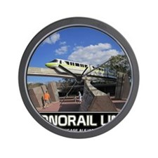 monorail LIME poster copy Wall Clock