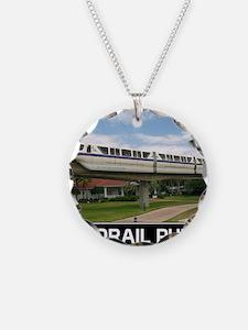 monorail PURPLE poster copy Necklace
