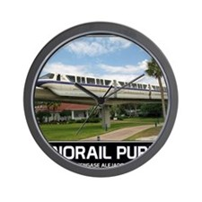 monorail PURPLE poster copy Wall Clock